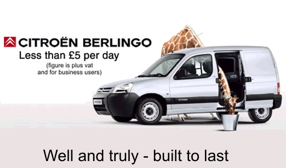 Citroen Berlingo Deal – from £5+vat per week